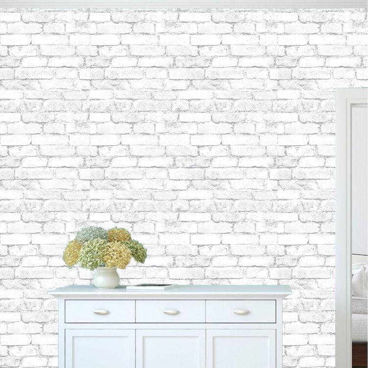 White Bricks Wallpaper Decal Self Adhesive Brick Removable Wall Decal Mural White Brick Wallpaper Primedecals Brick Wallpaper White Brick Wallpaper Removable Brick Wallpaper