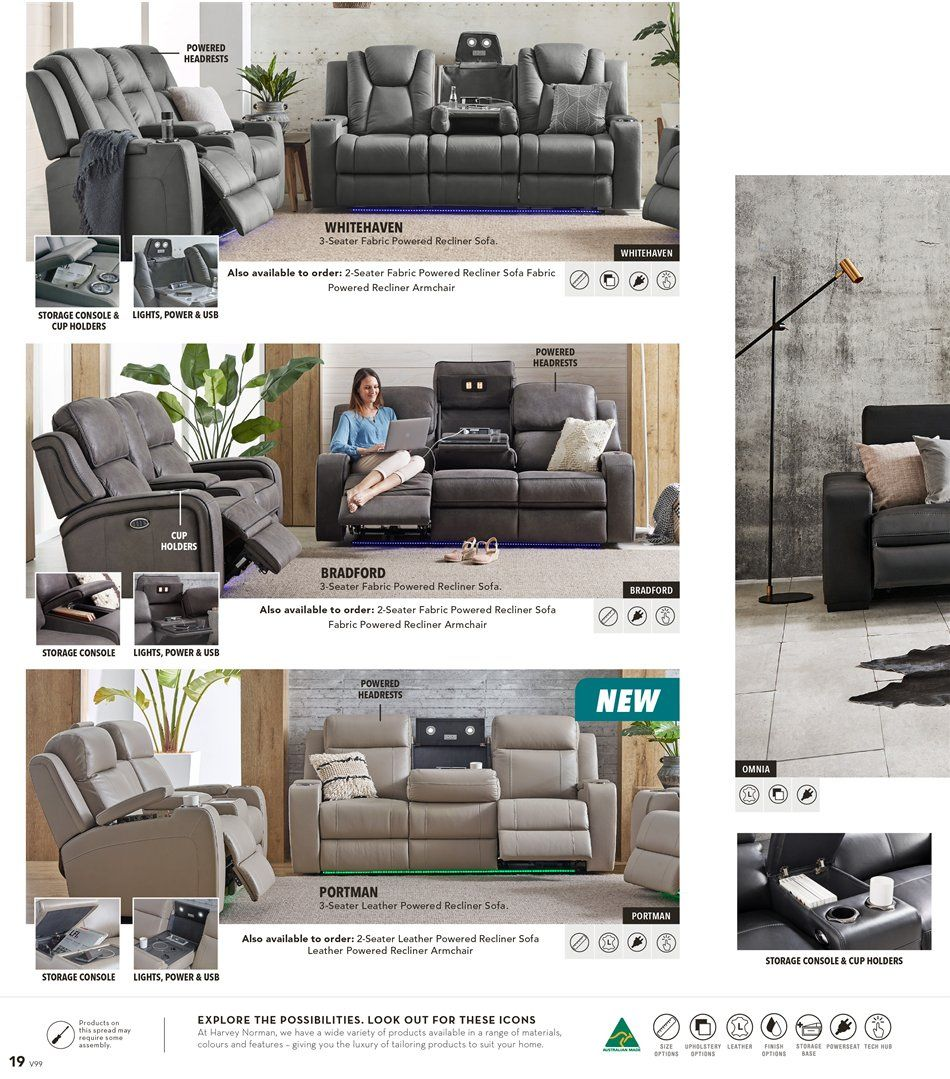 Whitehaven Fabric 3 Seater Electric Recliner Sofa In 2020 Reclining Sofa Recliner Sofa Pictures