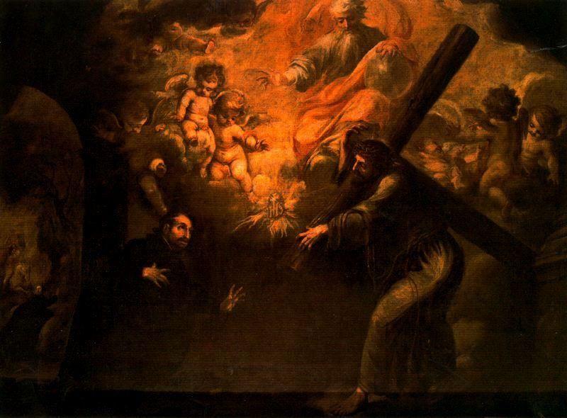 La Aparición de Cristo a San Ignacio camino de Roma, óleo de Juan De Valdés Leal (1622-1690, Spain)