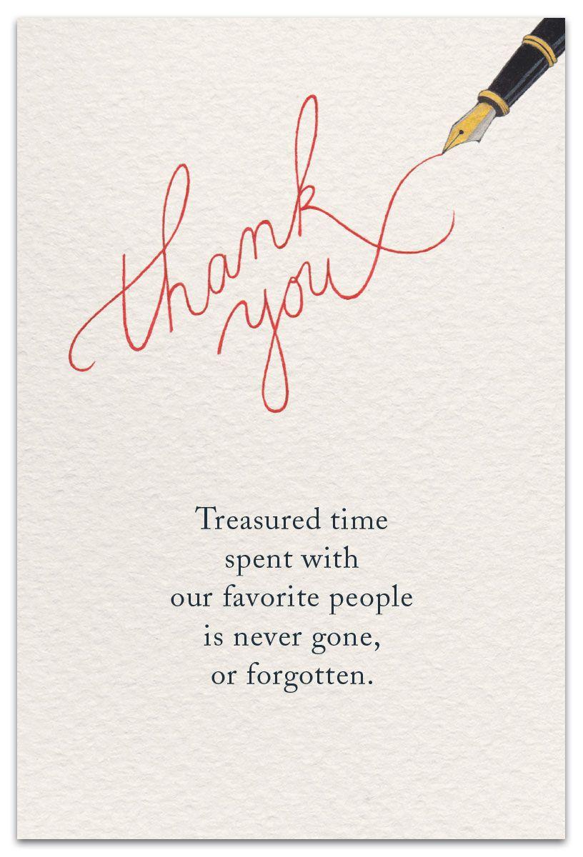 Cursive Thank You  Thank You Card  cardthartic.com  Thankful