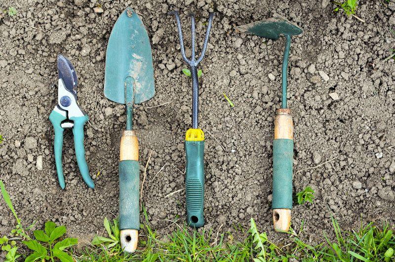 Gardening Tools Laying On Soil Ad Tools Gardening Soil