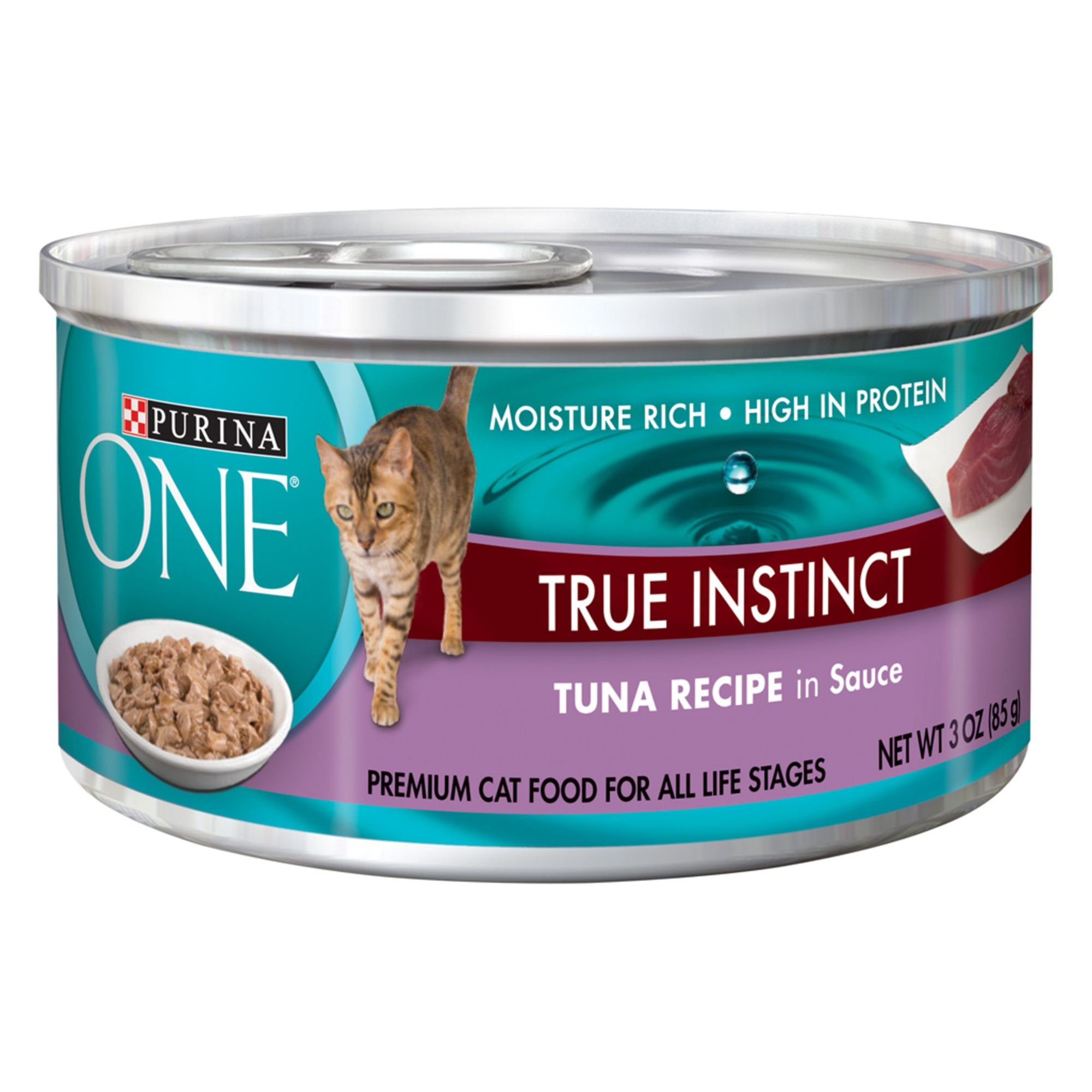 Purina ONE SmartBlend Cat Food Tuna size 3 Oz, ash