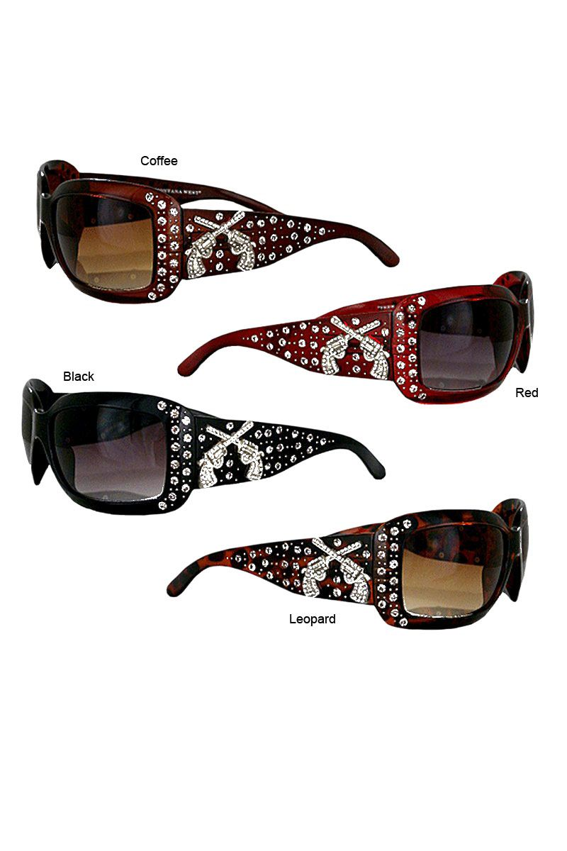 c92092f10053 Montana West Bling Pistols Western Sunglasses