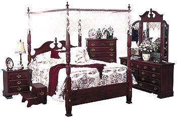 queen anne bedroom furniture queen anne bedroom furniture   Victoria Canopy   Purple