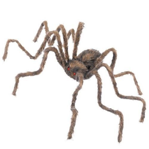 large spider decoration halloween scary party prop brown hang haunted house web