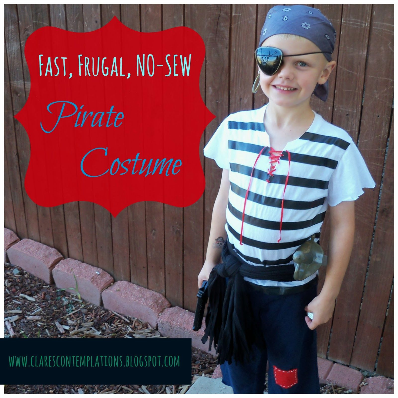 Clareu0027s Contemplations Quick and Easy Costume Picture Perfect Pirate  sc 1 st  Pinterest & Clareu0027s Contemplations: Quick and Easy Costume: Picture Perfect ...