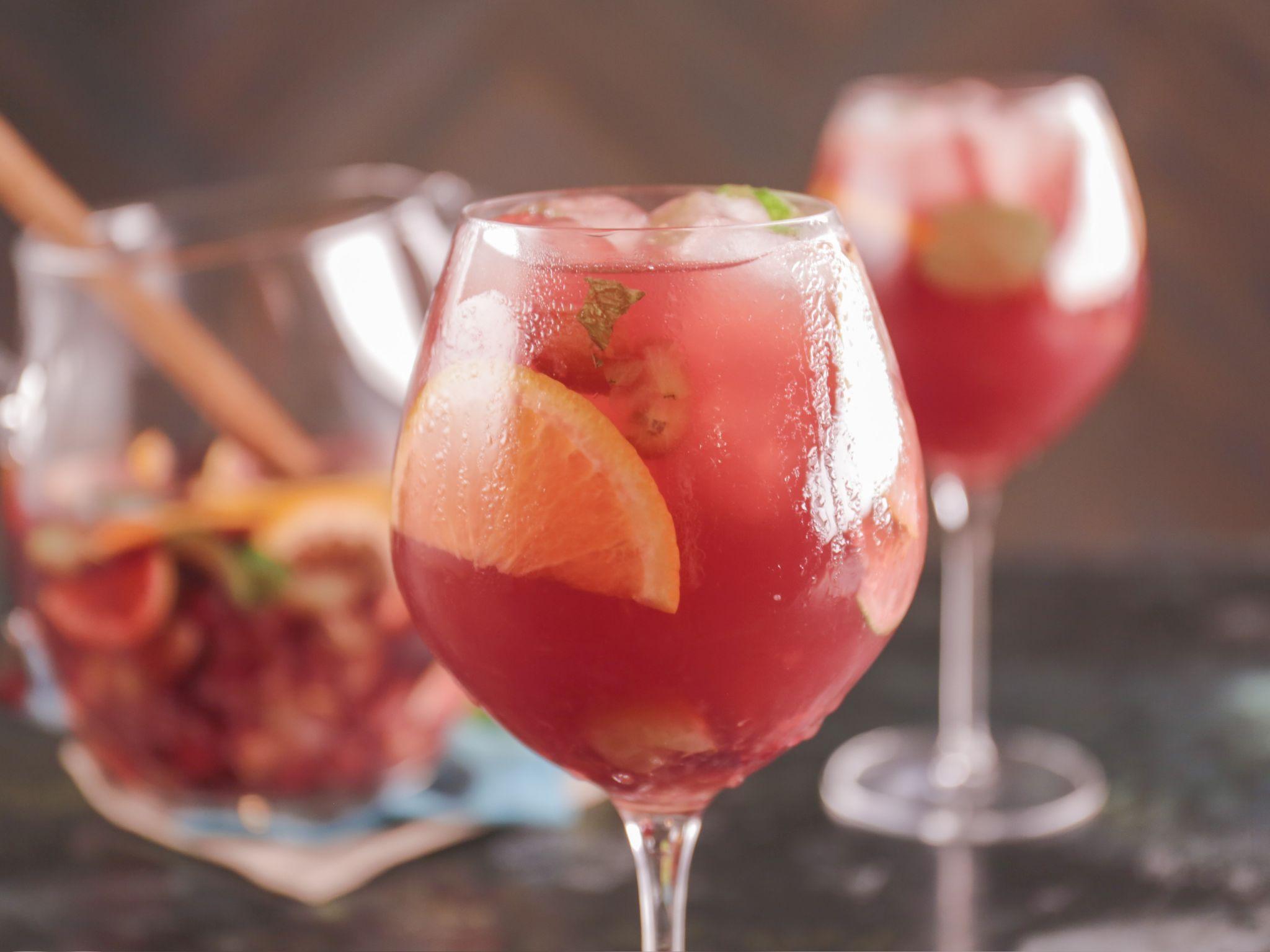 Fresh Grape Sangria Recipe Food Network Recipes Sangria Recipes Bobby Flay