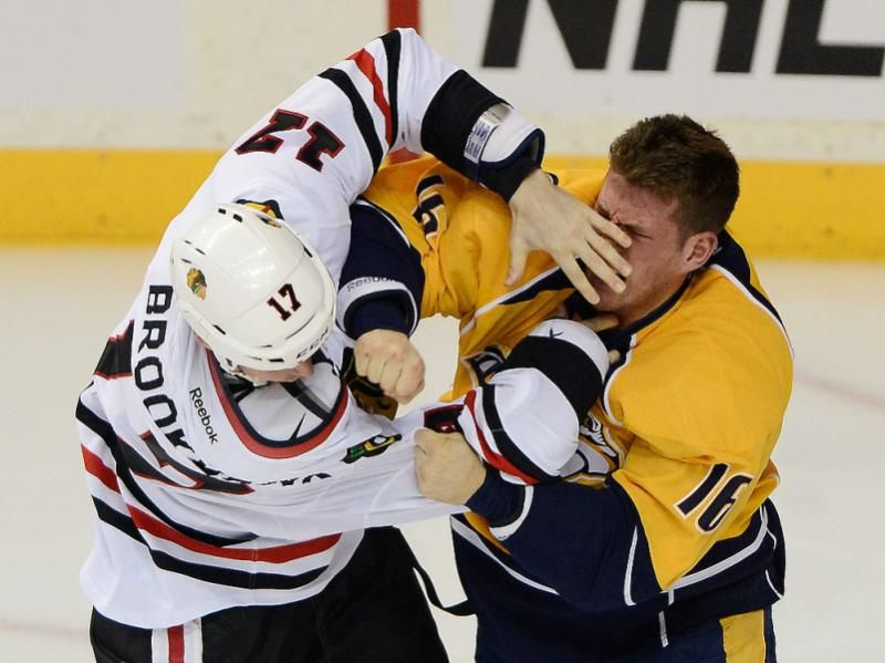 NHL hockey fights Hockey fights, Nhl, Hockey