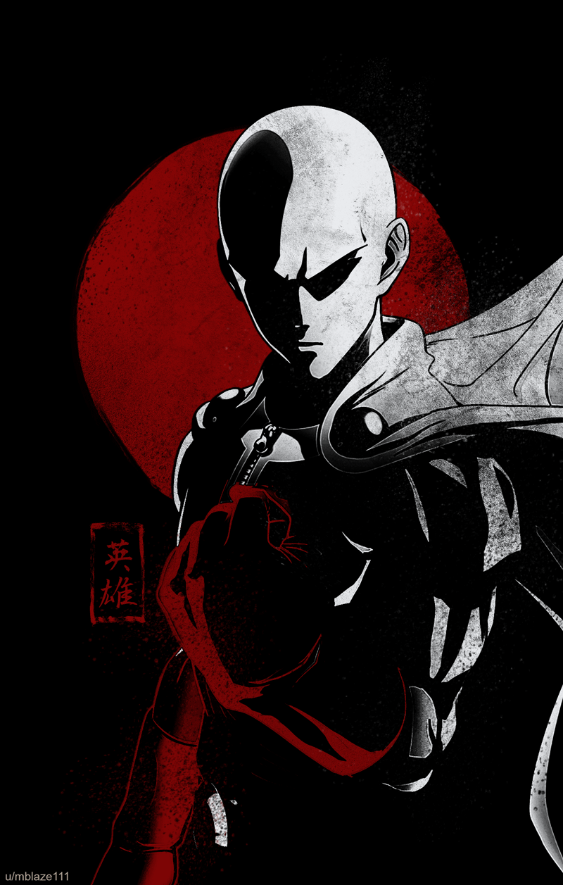 I Made A Saitama Phone Wallpaper For You Guys If You Guys Like It I Will Do More Characters R Onepunc One Punch Man One Punch Man Anime Saitama One Punch