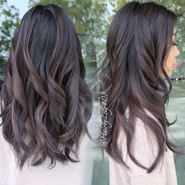 Dark Brown Purple Ash Hair Ideas Pinterest Hair Balayage
