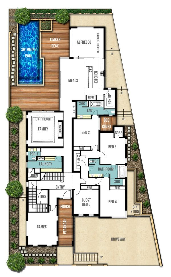Undercroft Garage Home Designs Perth Ground Floor