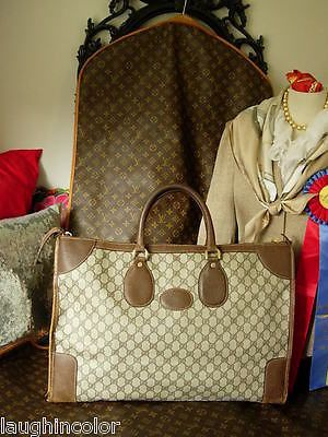 6f42130a5b17 RARE Vintage GUCCI Keepall Carry On Tote Duffle Luggage Suitcase Travel  Gift GG