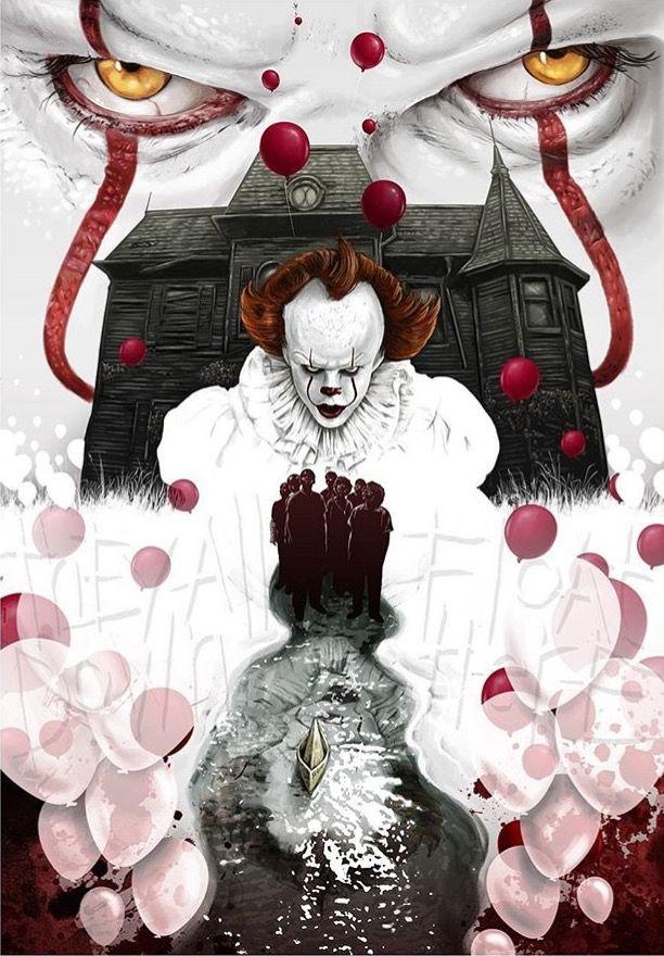 Pingl par g h d sur pennywise forever pinterest horreur le clown et affiche film - Personnage film horreur ...