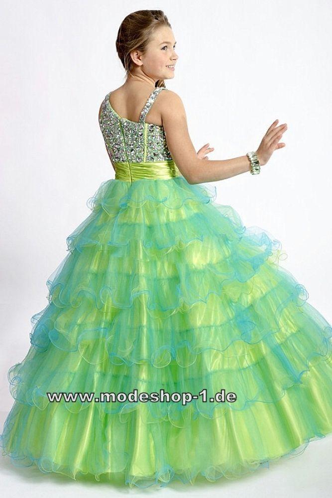 Mädchen Abendkleid Ballkleid in Mint Grün | Wunschliste | Pinterest ...