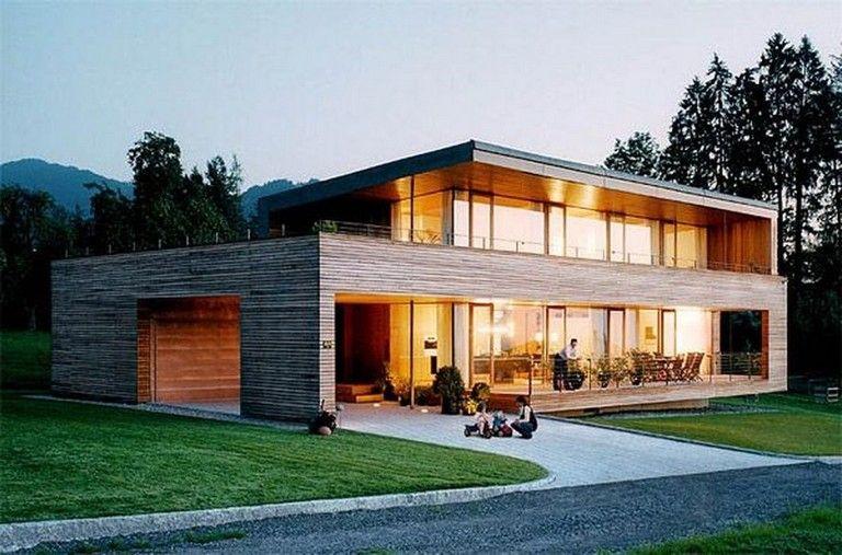 marvelous  wooden house that   simple on the outside but modern inside also rh pinterest