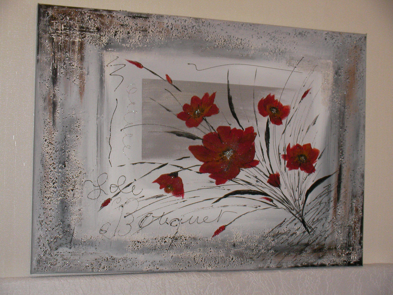 peinture abstraite bouquet de fleurs. Black Bedroom Furniture Sets. Home Design Ideas
