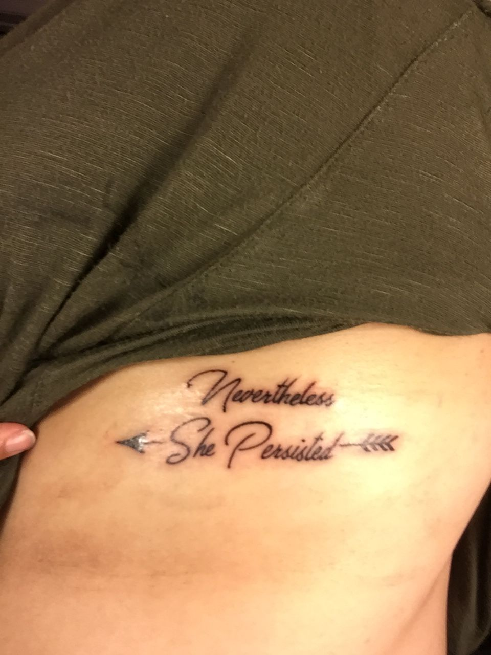 52e998707 Nevertheless, she persisted tattoo | Design | Tattoos, Body art ...