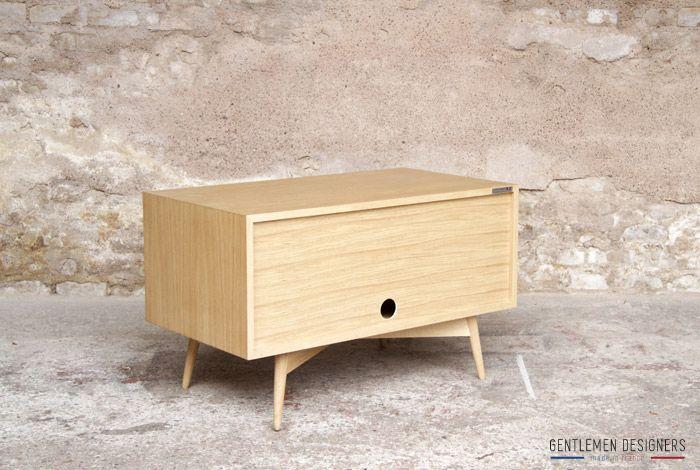 gentlemen designers mobilier vintage made in france meuble tv d appoint 90 50 35 esprit. Black Bedroom Furniture Sets. Home Design Ideas
