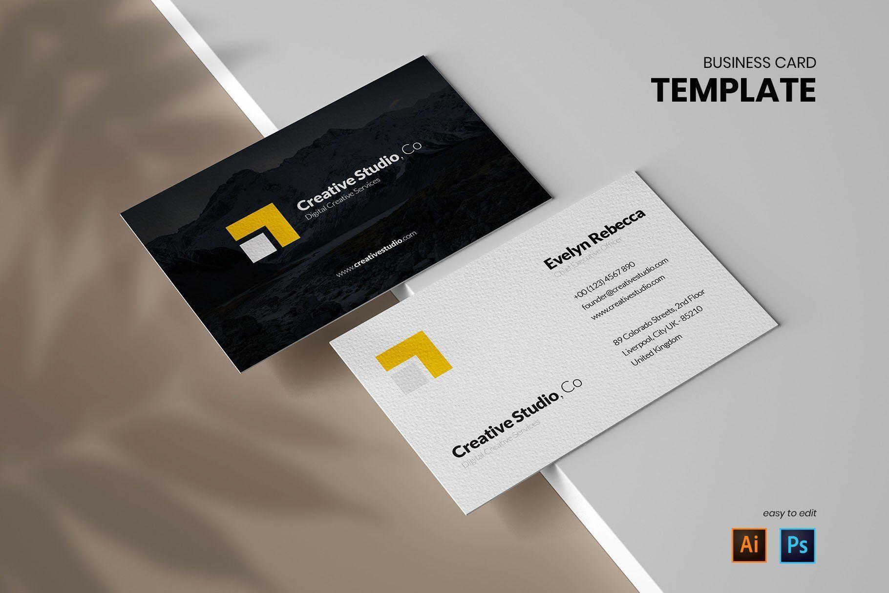 Minimalist Business Card Vol 01 Minimalist Business Cards Photography Business Cards Template Photography Business Cards