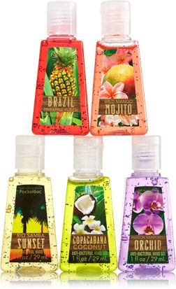 Brazil 5-Pack PocketBac Sanitizers - Soap/Sanitizer - Bath & Body Works