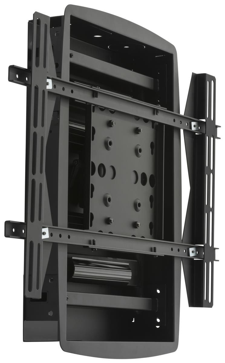 Recessed Tv Wall Mount Fits Monitors 32 To 60 Articulating Low Profile Black Wall Mounted Tv Wall Mount Wall
