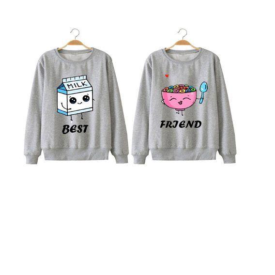 Kit Best Friend 2 Moletom Gola Redonda Tumblr Milk Cereal  50786b41d6fbd
