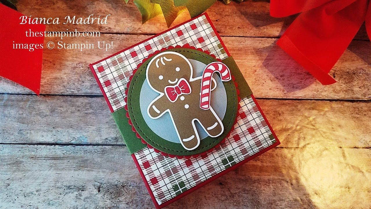 Stampin Up! Gingerbread Man Cookie Box Man cookies