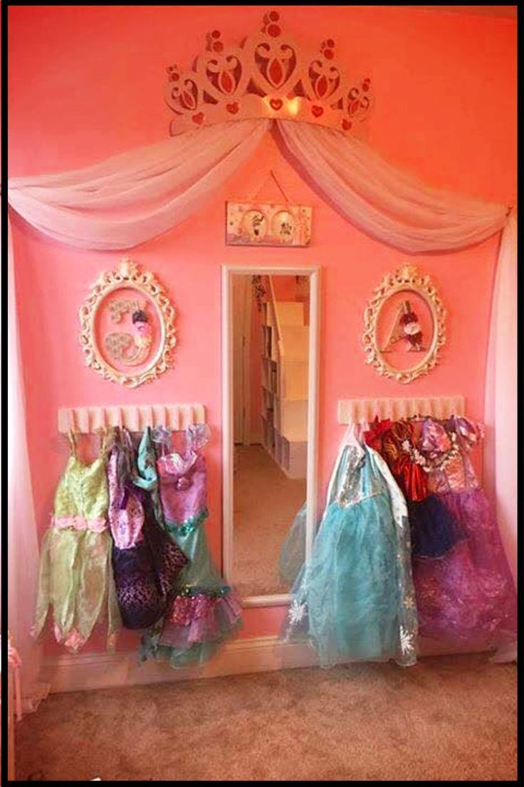 Little Girls Bedroom Decorating Ideas Make A Princess Dress Up Area In 2020 Baby Room Themes Disney Princess Bedroom Toddler Bedroom Girl
