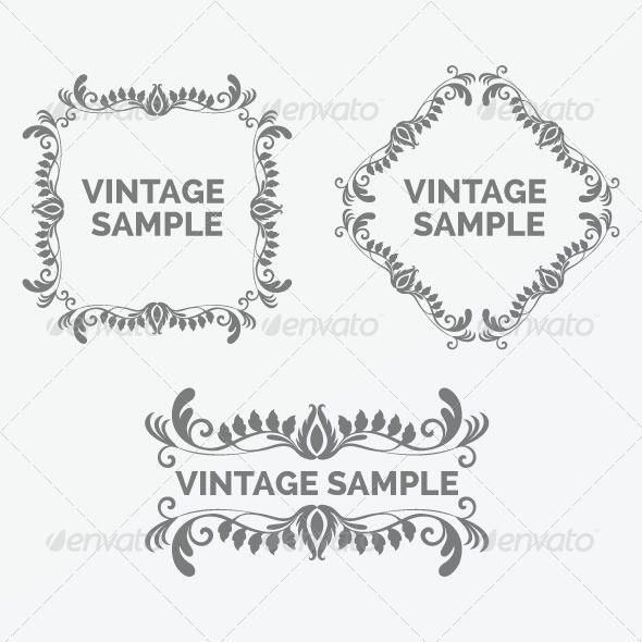 Vintage Frame 37   Design elements, Fonts and Font logo