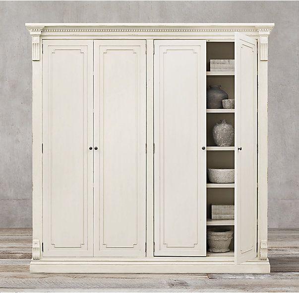 St James Panel 4 Door Cabinet Wardrobe Storage