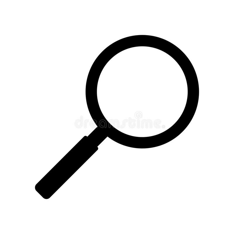 Simple silhouette magnifying glass icon. Isolated on white. Simple silhouette ma , #SPONSORED, #magnifying, #glass, #Simple, #…   Magnifying glass, Magnifier, Glass