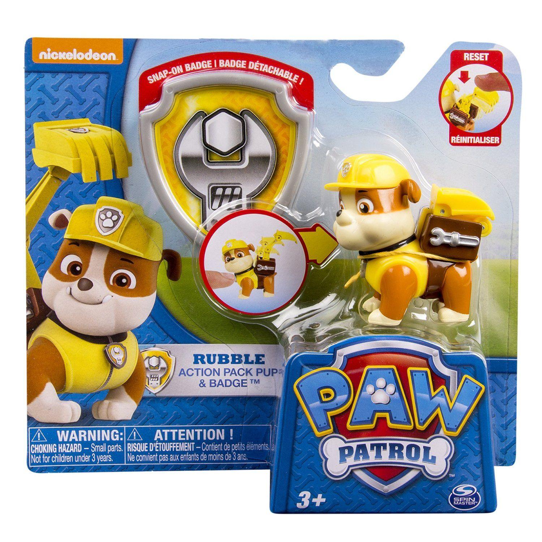 amazon com nickelodeon paw patrol action pack pup u0026 badge