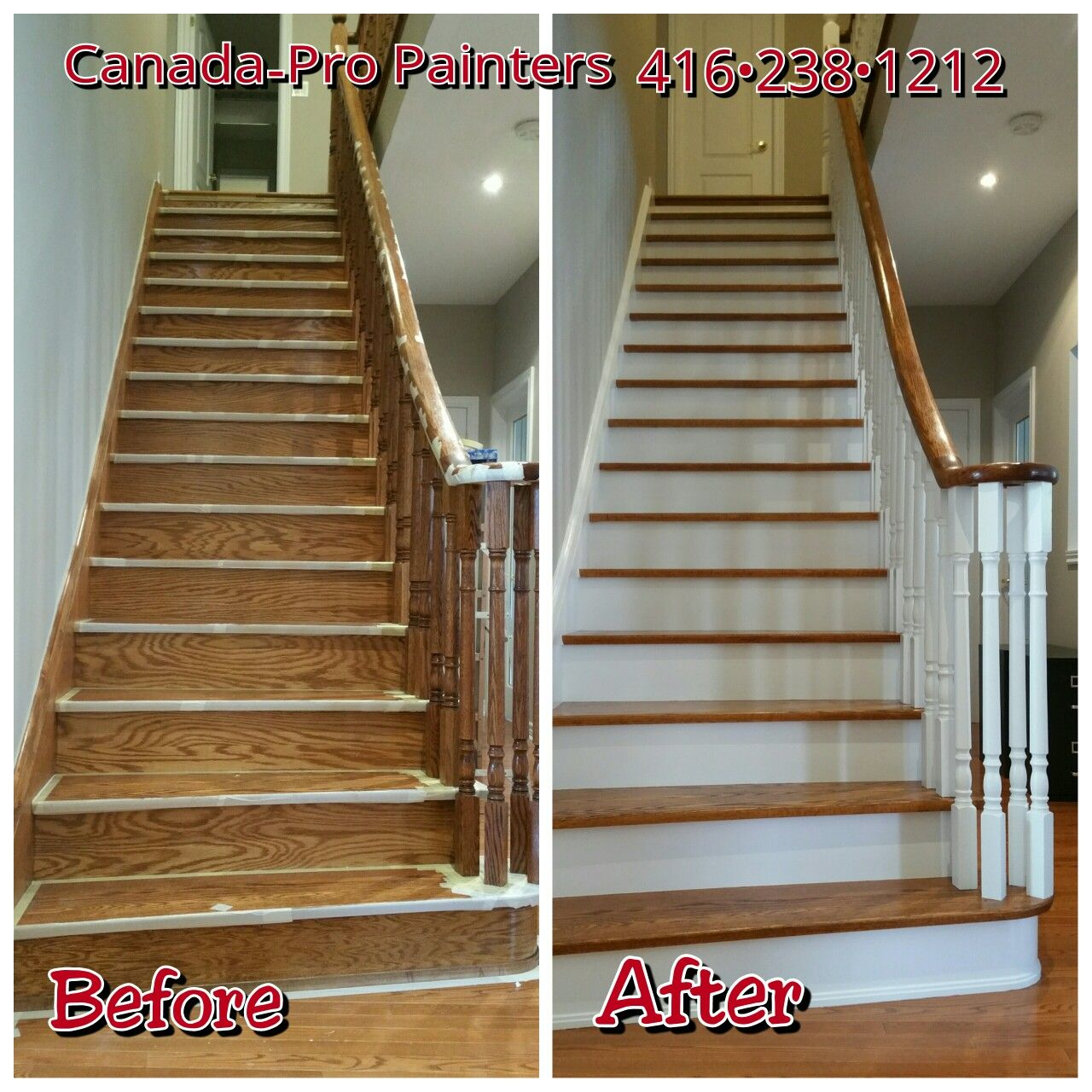 Best Staircase Spindles Risers And Stringers Painted White 640 x 480