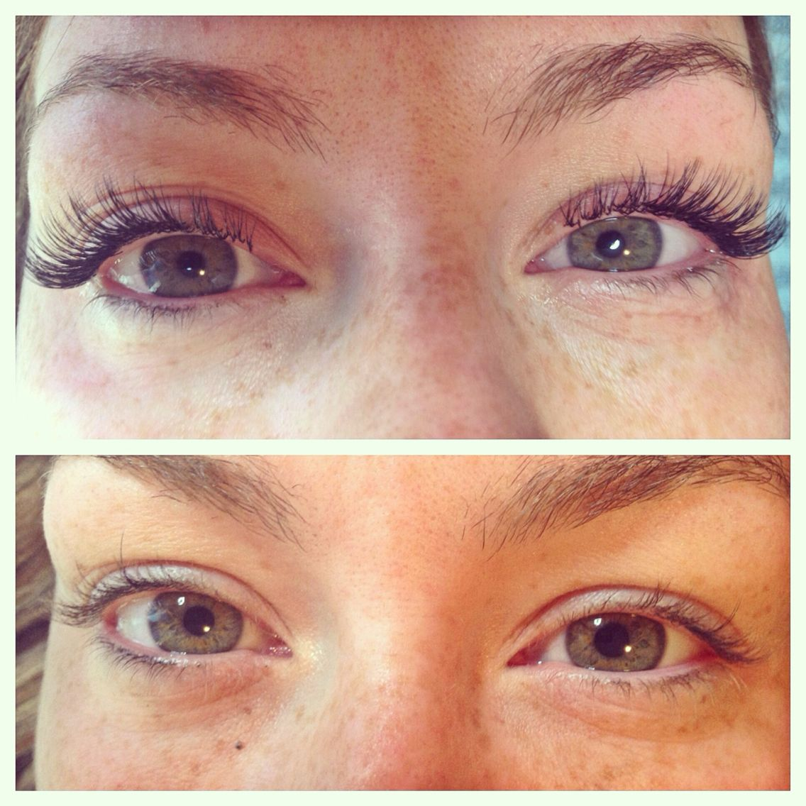 a04fbba953a Before and After individual eyelash extensions, silk, classic ...