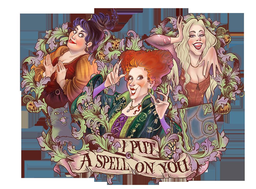 Hocus Pocus by Iria Abella [©2017] | Halloween drawings, Hocus pocus,  Halloween hocus pocus