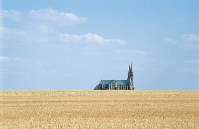 Chartres Cathedral with fields | visit 3foldsun com