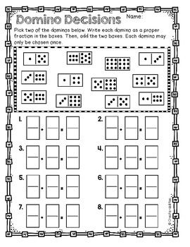 Adding and Subtracting Fractions Games and Activities | Pinterest