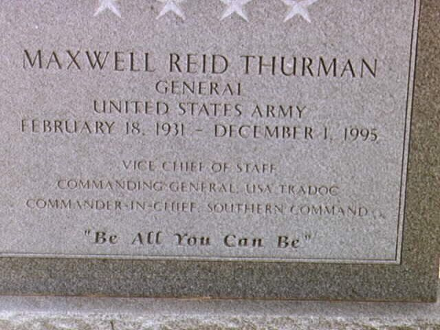 Maxwell Reid Thurman, General, United States Army | Maxwell/Fort