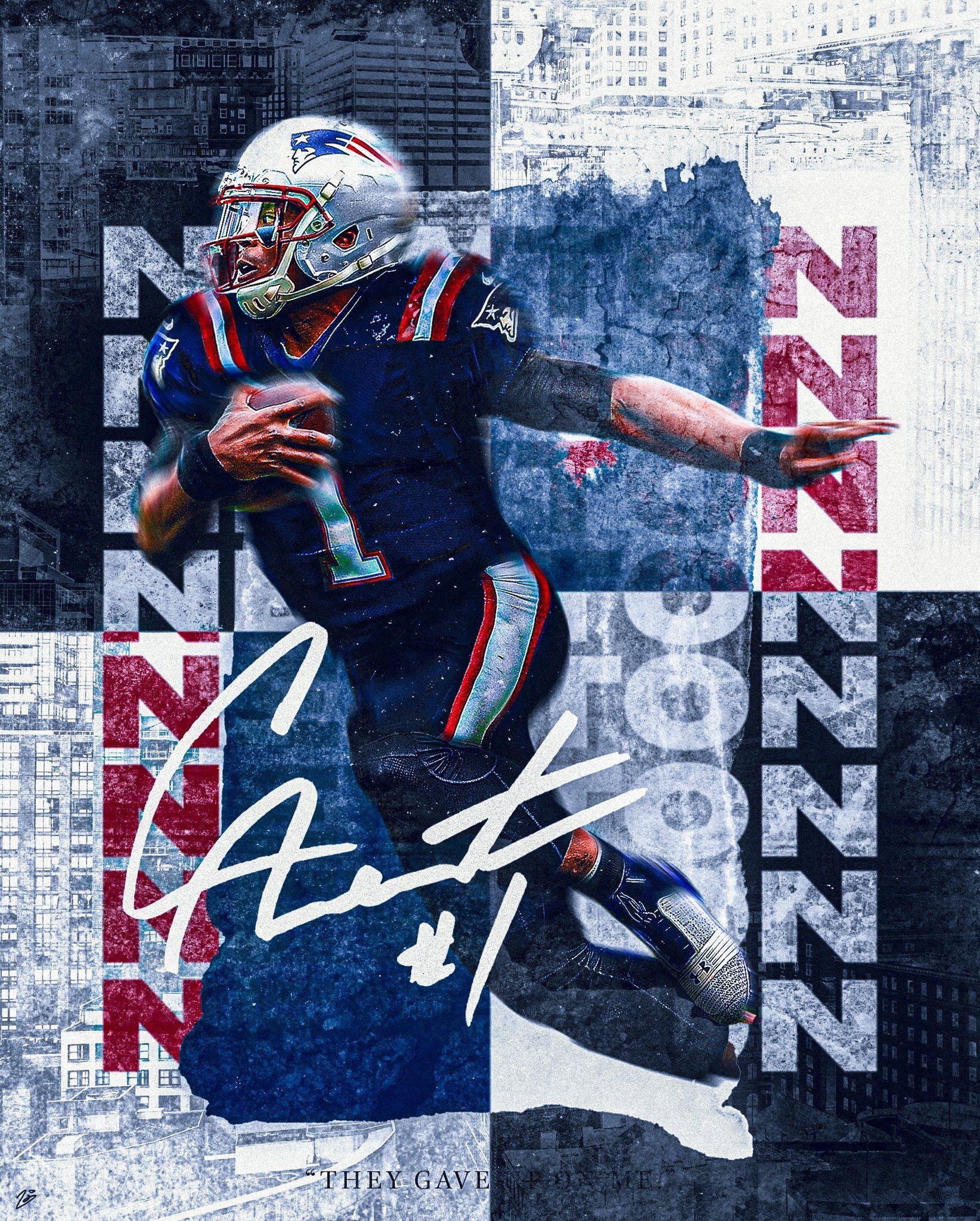 Zach Osborne On Twitter In 2020 Cam Newton Patriots Sports Graphics