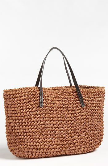 the perfect straw tote
