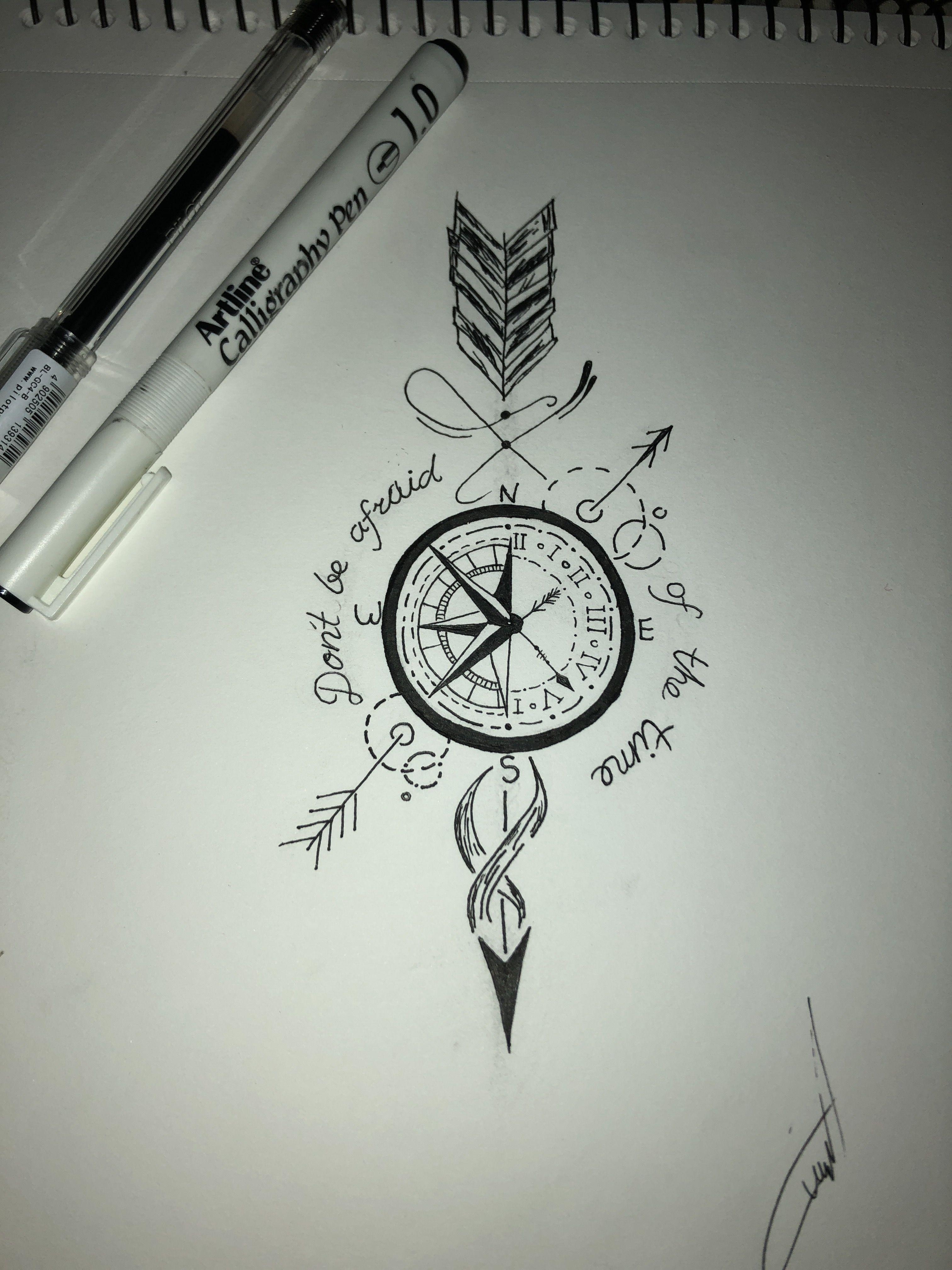 Compass Clock Darts Tattoo Me Up Compass Tattoo Design