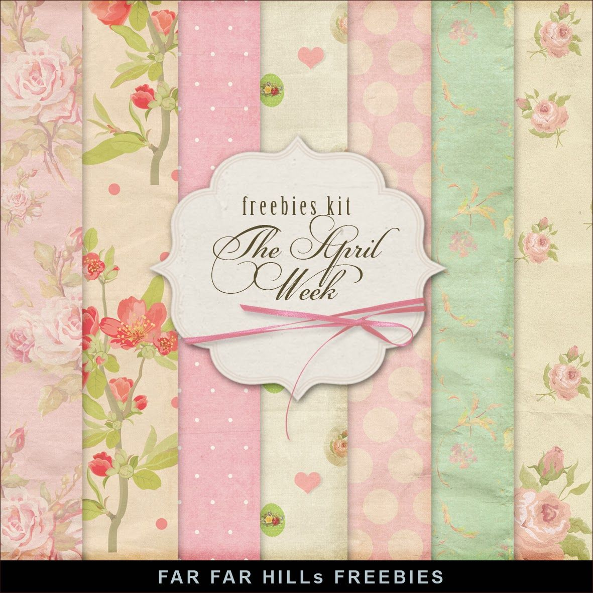Far Far Hill: Freebies Paper Kit - The April Week