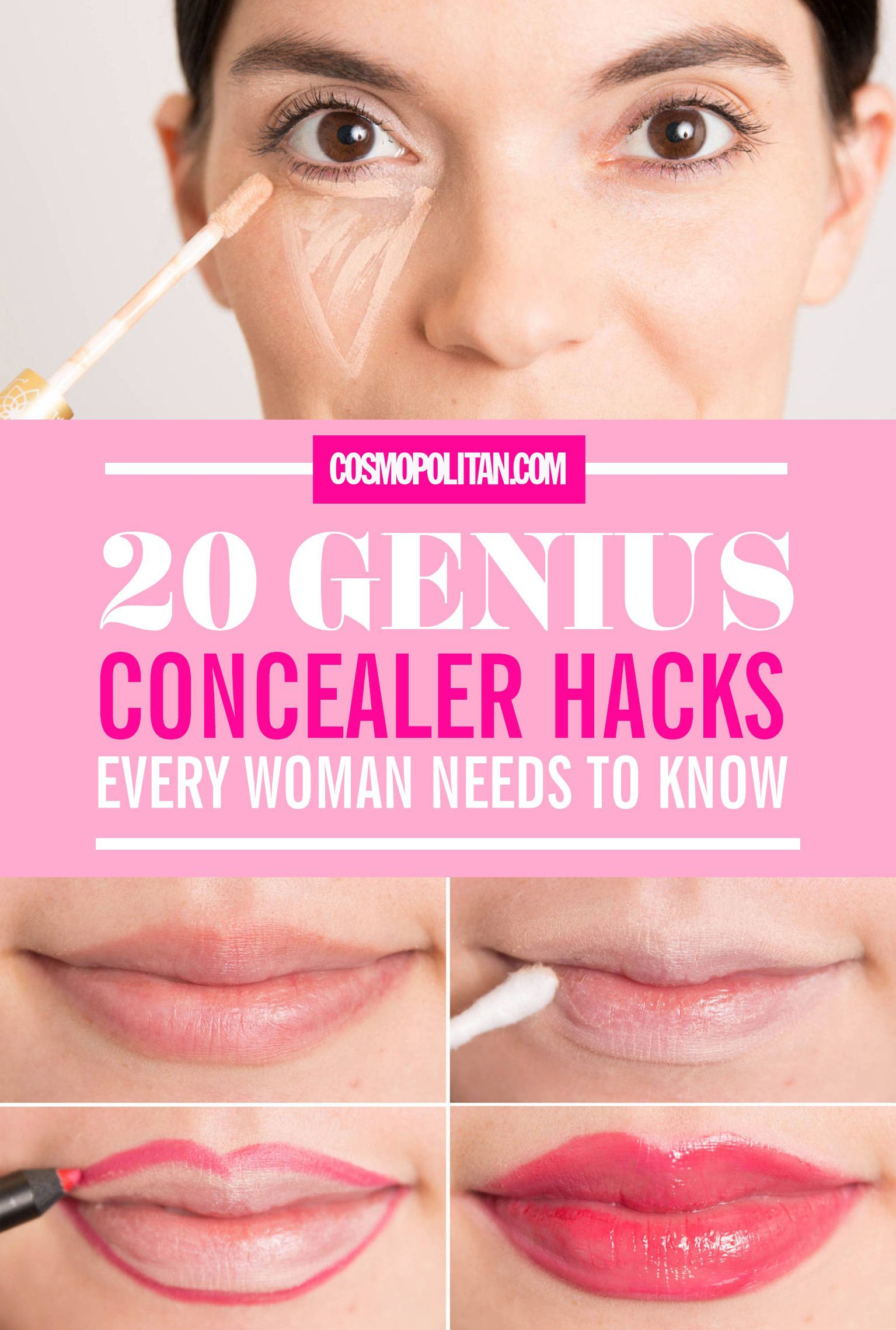 These 20 Hacks Make PerfectLooking Concealer Actually