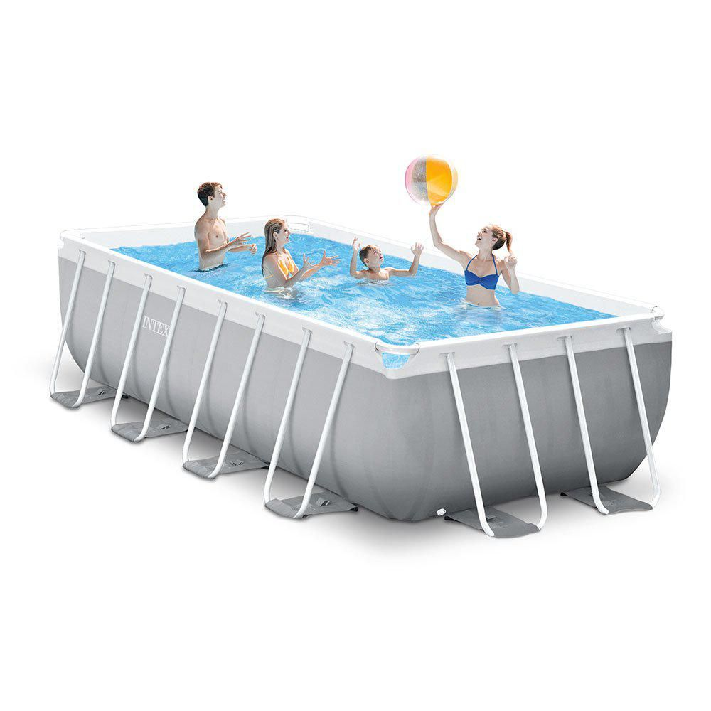 Intex 16 Ft X 8 Ft X 42 In D Rectangular Metal Frame Above Ground Pool 26791eh The Home Depot Rectangle Above Ground Pool Best Above Ground Pool Rectangular Pool
