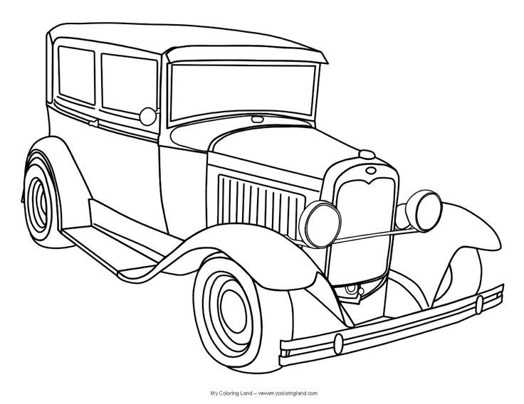 Beautiful Classic Cars Coloring Pages