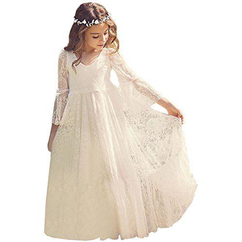 Fancy A Line Lace Flower Dress 2 12 Year Old Custom