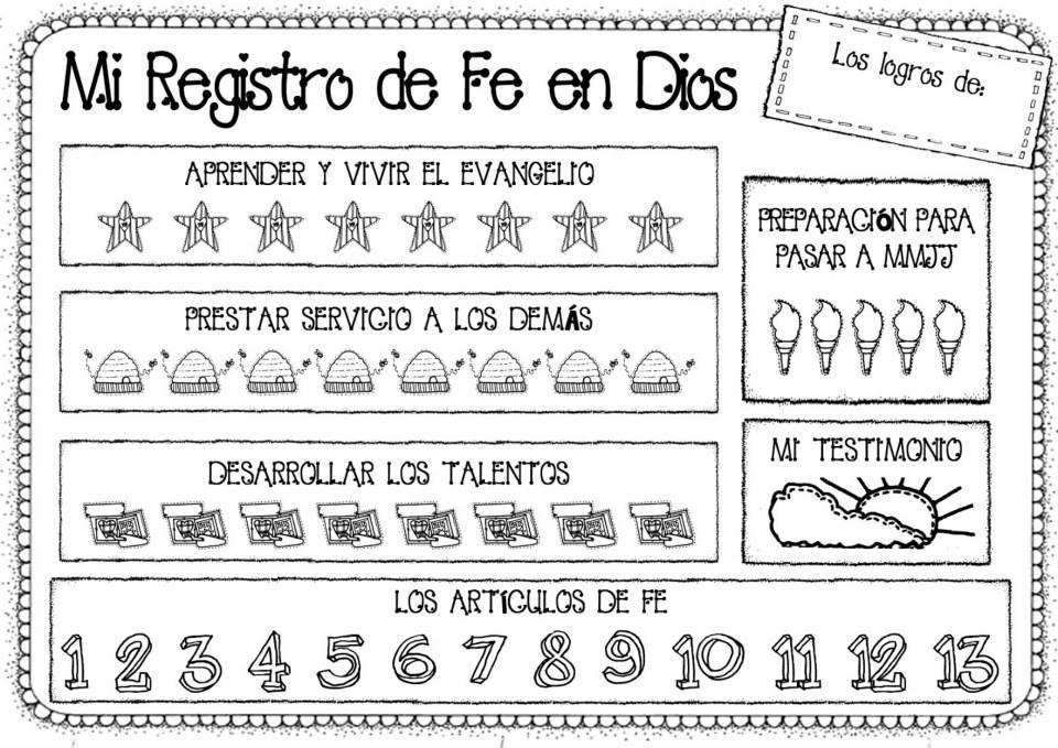 Registro de Fe en Dios para Niñas | Primaria | Pinterest | Fe en ...
