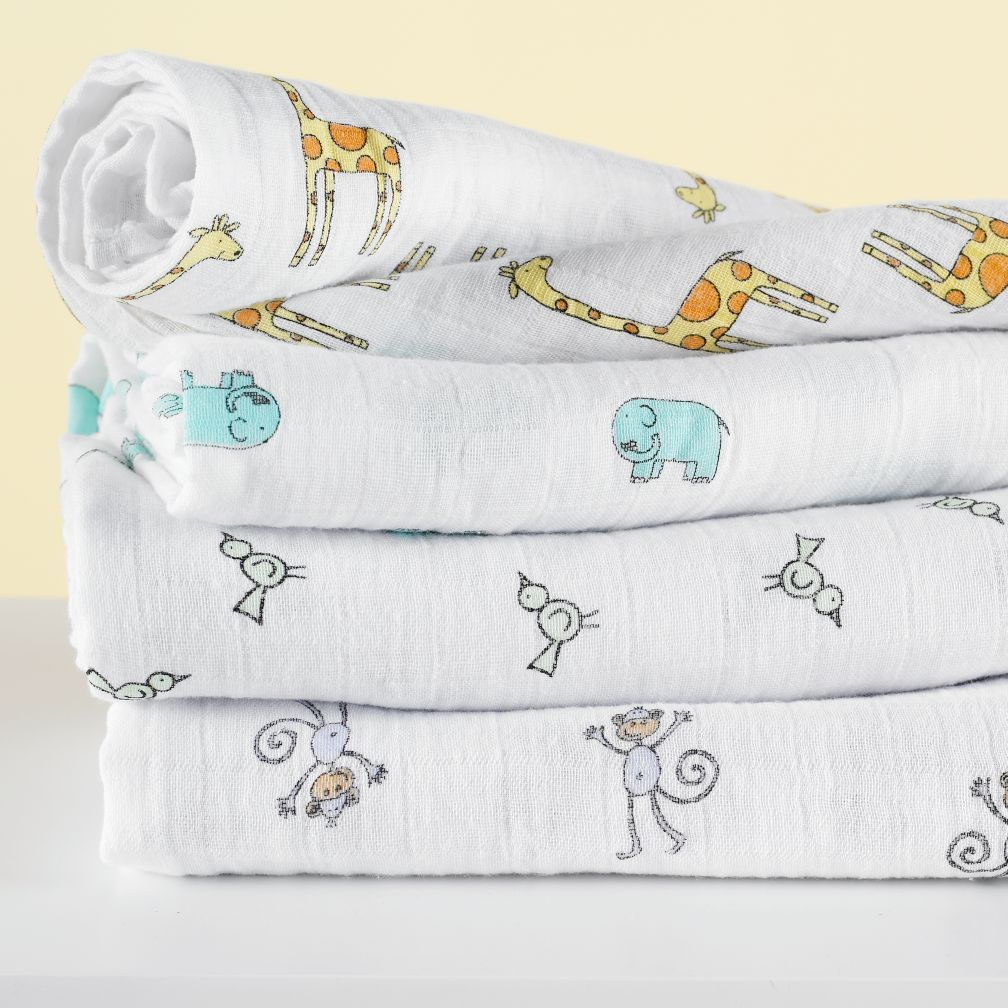 Swaddling And Receiving Blankets Alluring Baby Essentials Jungle Jam Swaddle Blankets  Jungle Jam Babies And Decorating Design