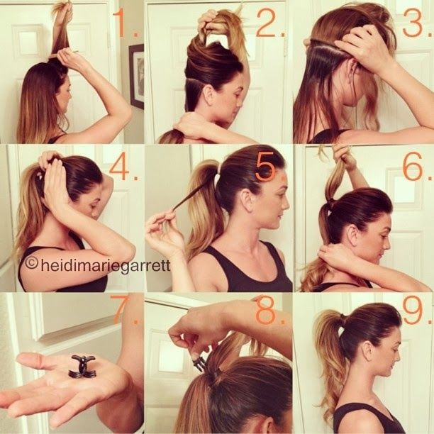Perfect Ponytail If You Have Thick Hair Use Two Ponytail Rubber Bands Secure The Butterfly Clip Under The Top S Hair Styles Fuller Ponytail Perfect Ponytail