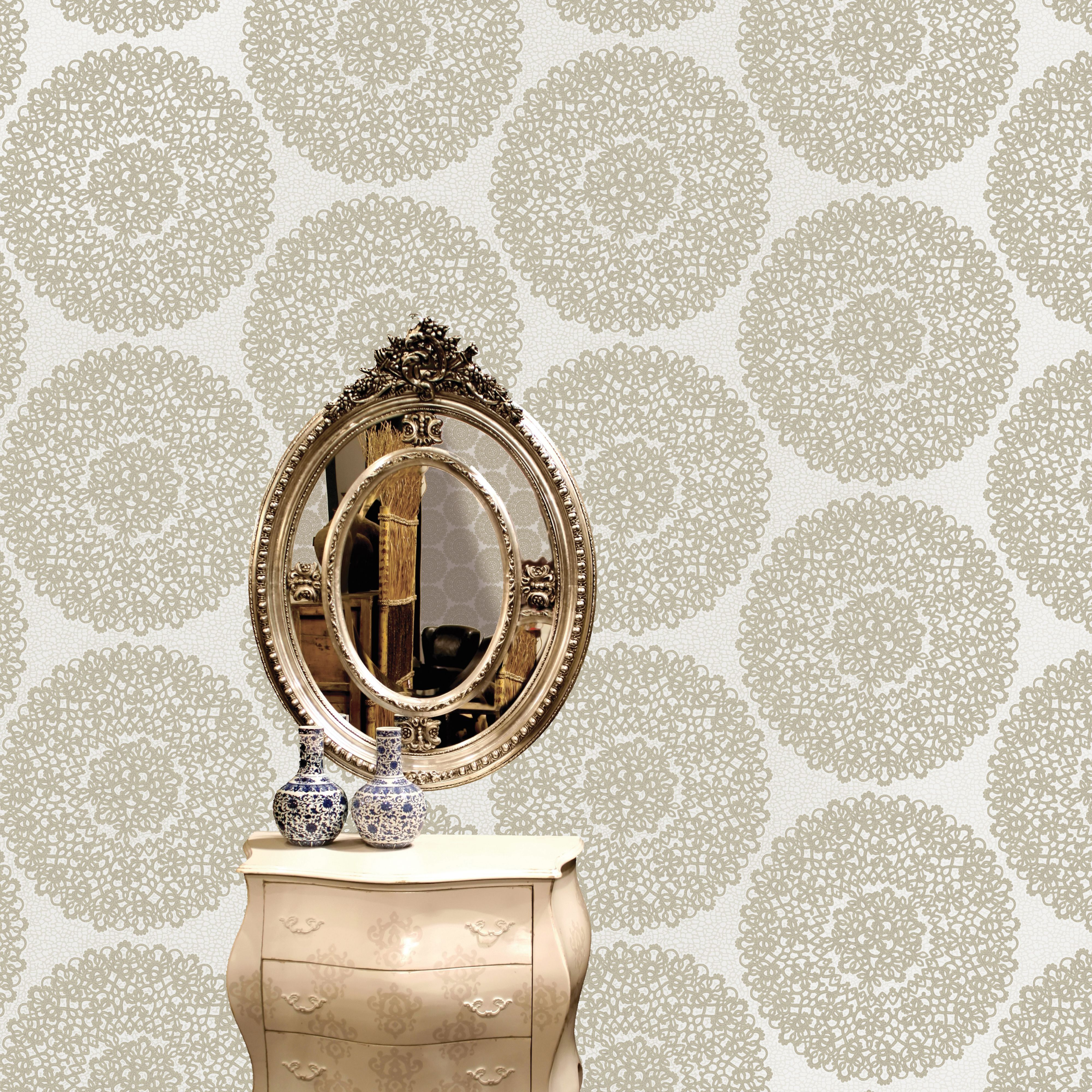 living room wallpaper bq upholstered chair statement beige taupe kenitra mica effect b q for all your home and garden supplies advice on the latest diy trends